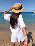 Літній костюм з шортами і футболкою з легкого мусліну (р. S-L) 5101958, фото 4