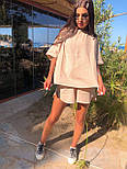 Літній костюм з шортами і футболкою з легкого мусліну (р. S-L) 5101958, фото 6