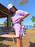 Літній костюм з шортами і футболкою з легкого мусліну (р. S-L) 5101958, фото 7