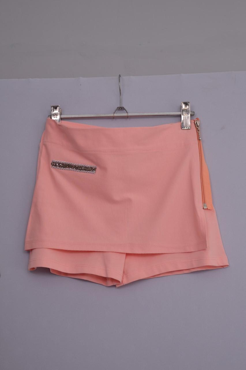 Юбка-шорты  для девочки  Л-348   рост 146 158 и 164 персиковые