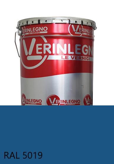 Краска полиуретановая для мебели Verinlegno Италия, Цвет  RAL 5019, двухкомпонентная