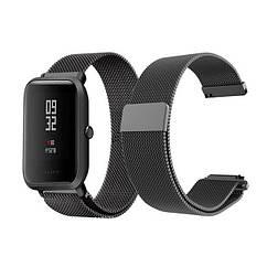 Ремешок BeWatch миланская петля для Xiaomi Amazfit BIP Черный 1010201 ZZ, КОД: 179489