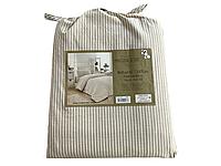Комплект постельного белья Maison D'or Lines Stripes Beige хлопок 220-200 см бежевый