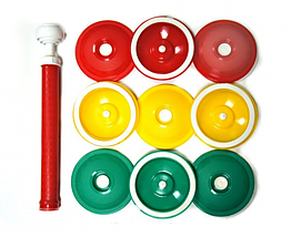 Вакуумные крышки для консервирования VOLRO ВАКС 9 шт в комплекте Green Yellow Redvol-177 ZZ, КОД: 1718974