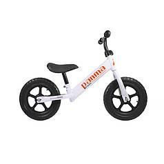 Беговел Panma BT-619 White велобіг від без педалей дитячий велосипед 26 см