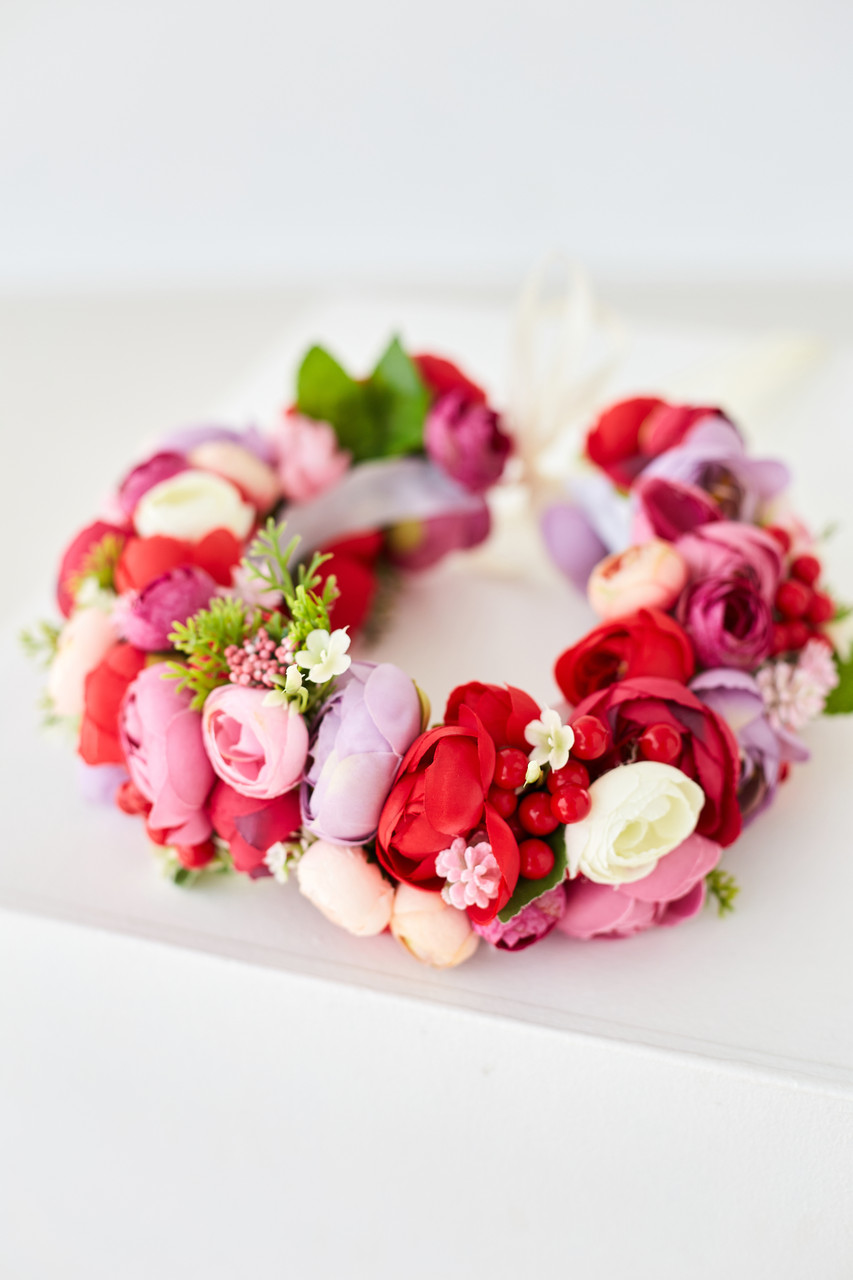 Венок с цветами на голову