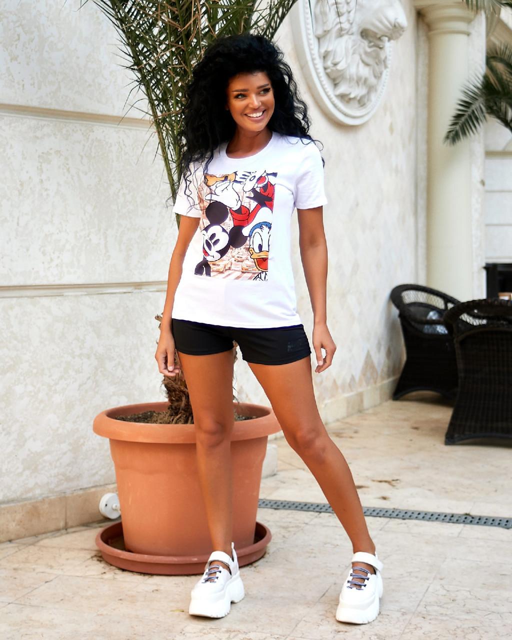 Жіноча футболка, віскоза, р-р універсальний 42-46 (білий)