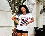 Жіноча футболка, віскоза, р-р універсальний 42-46 (білий), фото 2