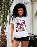Жіноча футболка, віскоза, р-р універсальний 42-46 (білий), фото 3