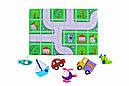 """Дитяча розвиваюча настільна гра з фетру на липучках """"Транспорт"""" PF-004, фото 3"""