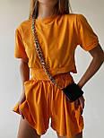 Летний костюм со свободными шортами и футболкой из трикотажа (р. S-М) 77101962, фото 6