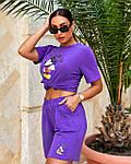 Спортивний костюм жіночий батал, турецький бавовна-спів, р-р 48-50; 52-54 (лаванда), фото 4