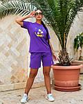 Спортивний костюм жіночий батал, турецький бавовна-спів, р-р 48-50; 52-54 (лаванда), фото 5