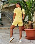 Женский спортивный костюм батал, турецкий хлопок-пенье, р-р 48-50; 52-54 (желтый), фото 2
