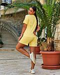 Женский спортивный костюм батал, турецкий хлопок-пенье, р-р 48-50; 52-54 (желтый), фото 3
