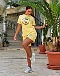 Женский спортивный костюм батал, турецкий хлопок-пенье, р-р 48-50; 52-54 (желтый), фото 4