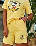 Женский спортивный костюм батал, турецкий хлопок-пенье, р-р 48-50; 52-54 (желтый), фото 5