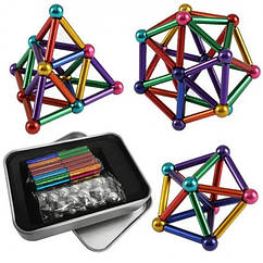 Магнітний конструктор Neo 64 деталі Різнобарвний