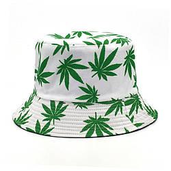 Панама біла панамка з зеленим листям марихуани чоловіча жіноча)