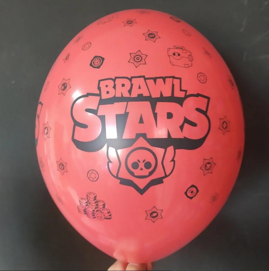 """Латексна кулька з малюнком BS червоний 001 12"""" 30см Belbal ТМ """"Star"""""""