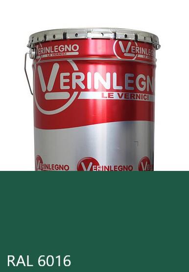 Краска полиуретановая для мебели Verinlegno Италия, Цвет  RAL 6016, двухкомпонентная