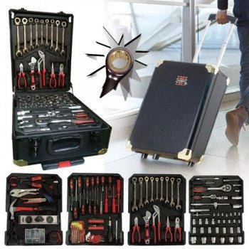 Набор инструментов 399 предмета в Алюминиевом чемодане с трещоткой