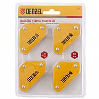 Набір з 4 магнітних фіксаторів для зварювальних робіт Denzel //97555