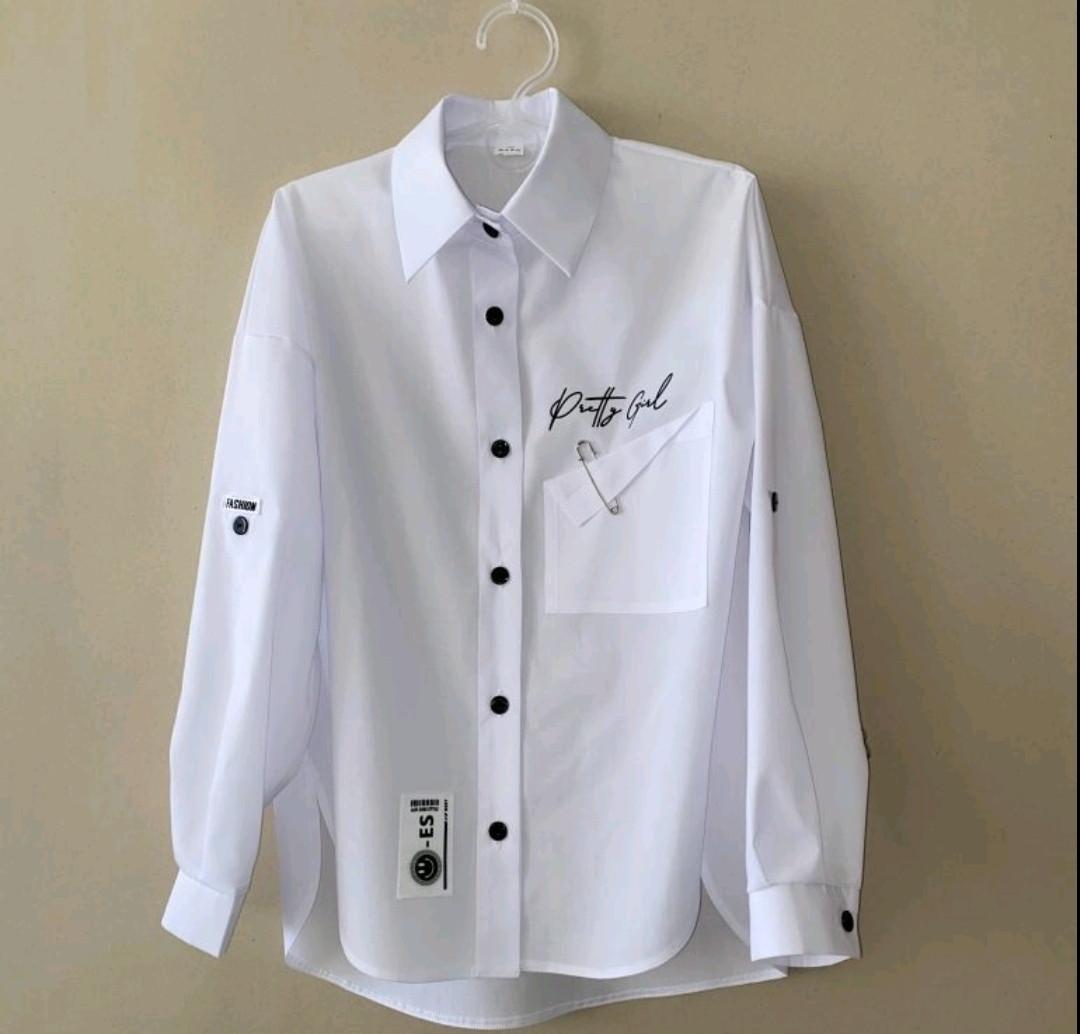 Блуза подростковая  белая красивая нарядная шикарная. Рукав- трансформер. Размеры 146.152.158.164 рост.