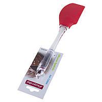 Силіконова кухонна лопатка Kamille 26 * 5.5см (кольори mix), фото 1
