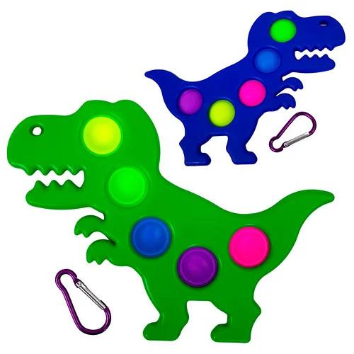 Сенсорная игрушка - брелок Simple Dimple Динозавр, сенсорная игрушка поп ит