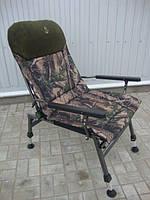 Кресло карповое Elektrostatyk FK5 усиленное камуфляж KLON (до 150 кг).