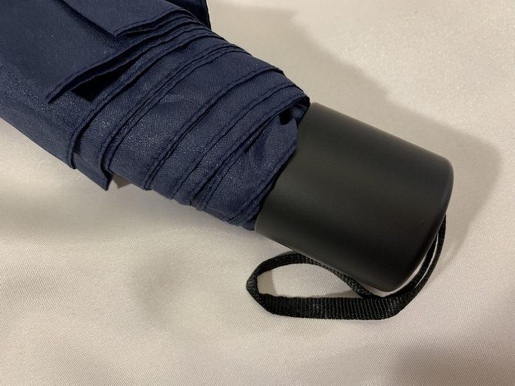 Чоловічий парасольку в три складання механічний 8 спиць чорний