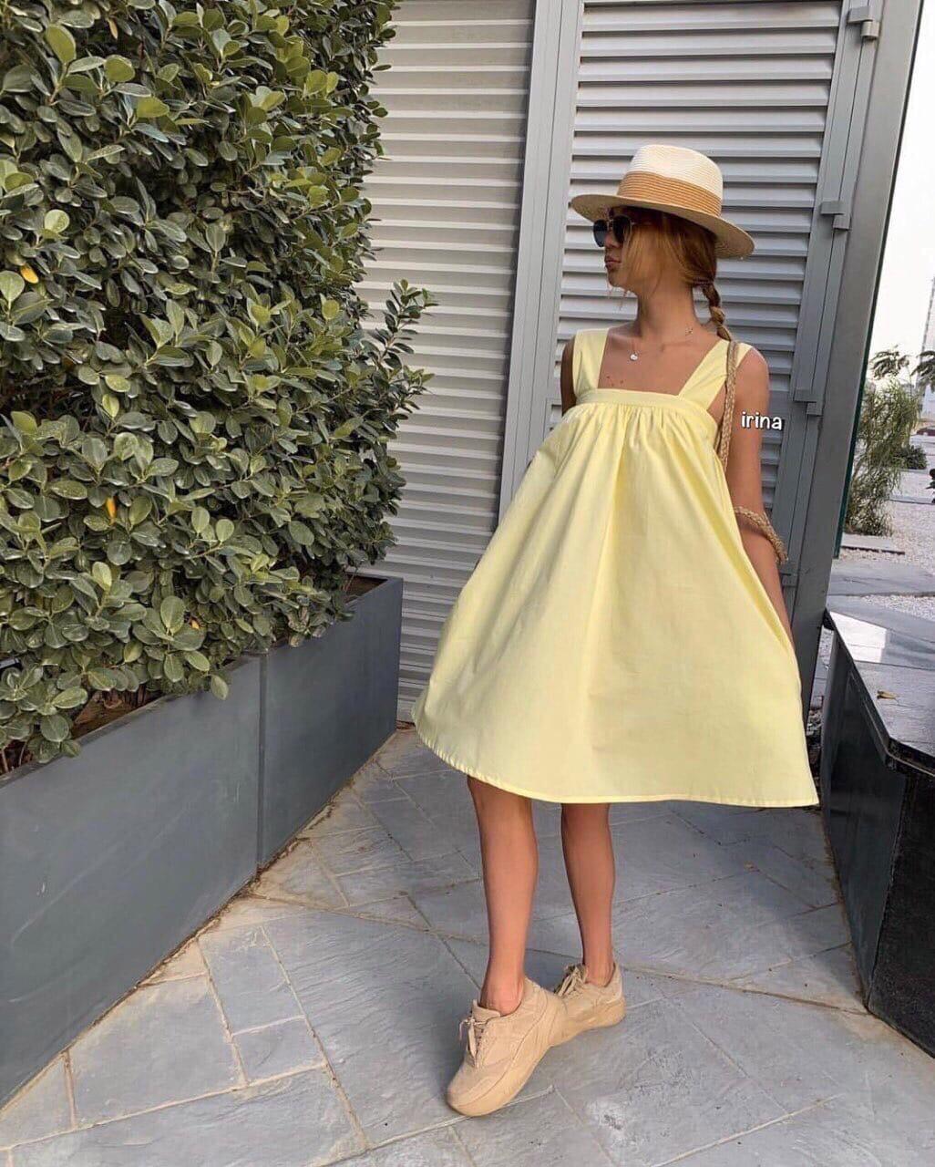 Женское платье, суперсофт, р-р универсальный 42-46 (желтый)