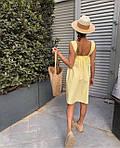 Женское платье, суперсофт, р-р универсальный 42-46 (желтый), фото 2
