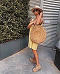 Женское платье, суперсофт, р-р универсальный 42-46 (желтый), фото 3