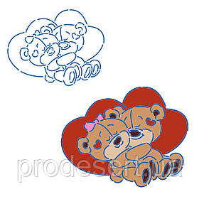 Трафарет Влюбленая пара ведмедиків 9*11 см (TR-1)