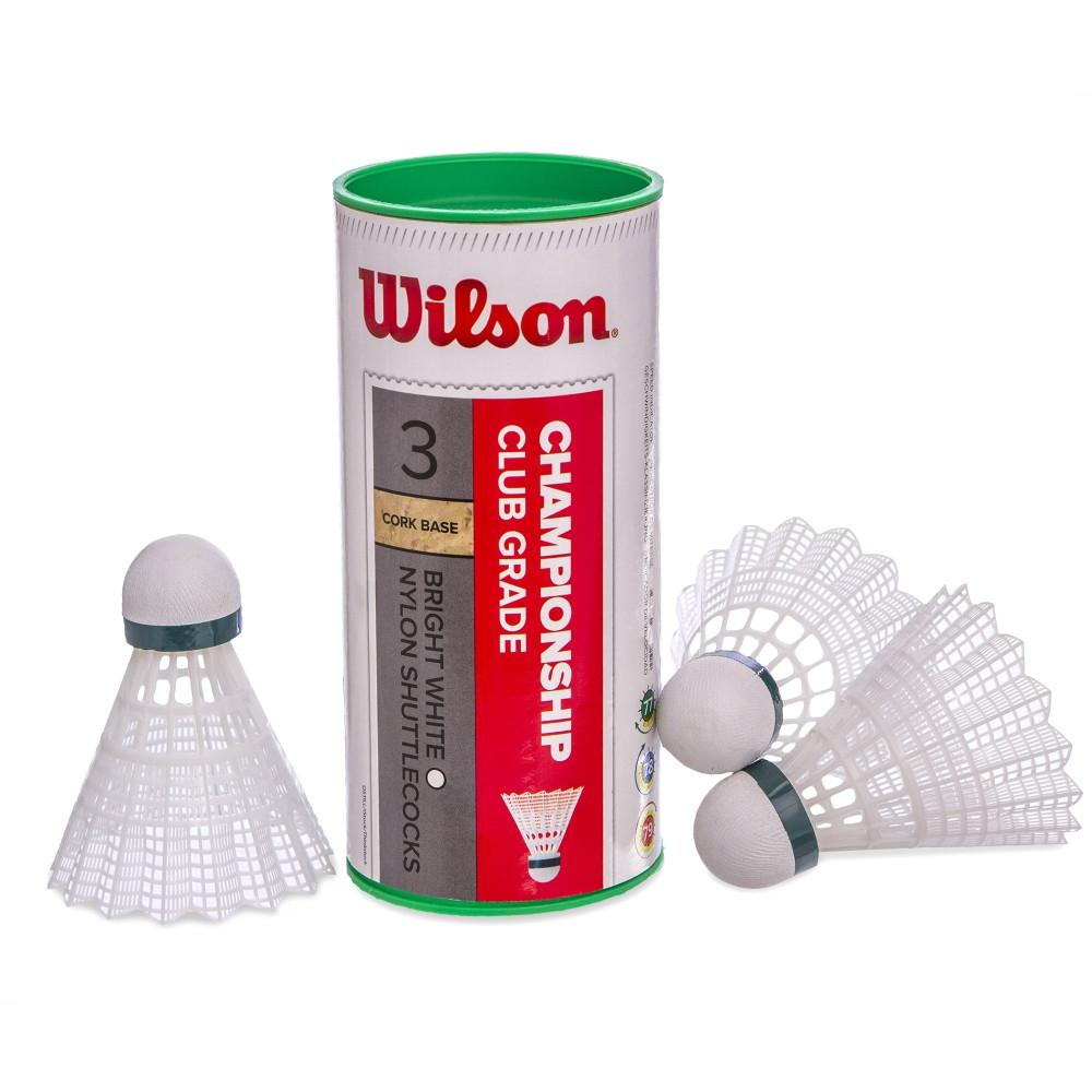 Волани для бадмінтону WILSON CHAMPIONSHIP WRT6040 3шт білий