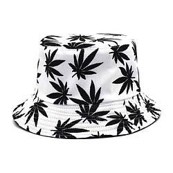 Панама біла панамка з чорними листям листям марихуани чоловіча жіноча)
