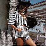 Женский костюм, турецкая вискоза, р-р универсальный 42-46 (белый), фото 3