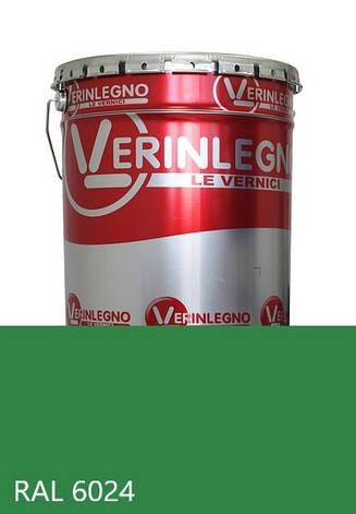 Фарба поліуретанова для меблів Verinlegno Італія, Колір RAL 6024, двокомпонентна, фото 2