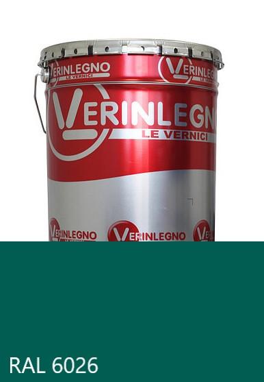 Краска полиуретановая для мебели Verinlegno Италия, Цвет  RAL 6026, двухкомпонентная