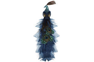 Декоративний Павич на кліпсі 40см, колір - насичений синій BonaDi 499-053