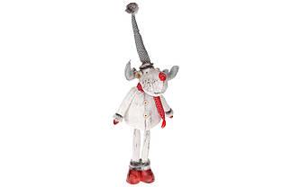 М'яка новорічна іграшка Олень, 95см, колір - білий BonaDi 778-275