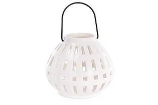 Підсвічник фарфоровий підвісний, 15см, колір - білий BonaDi 797-431
