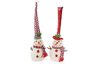 М'яка новорічна іграшка Сніговик, 35см, 2 види BonaDi 778-247