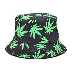 Панама чорна (панамка з зеленим листям марихуани чоловіча жіноча)