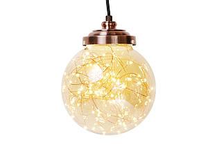 Декоративный шар 16.5см с LED-гирляндой внутри (300 мини-LED, цвет - тёплый белый, постоянное свечение) BonaDi