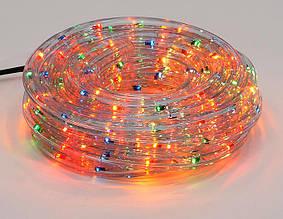 Гирлянда Дюралайт 6м, 30 лампочек/ 1м (разноцветные), прозрачная трубка, режим постоянного свечения. Для