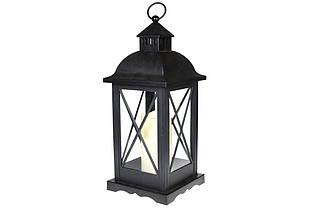 Декоративный фонарь 58см со свечкой с LED подсветкой (теплый желтый мерцающий свет) на батарейках (3xС - не