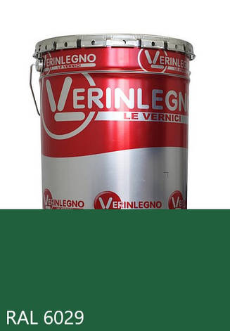 Фарба поліуретанова для меблів Verinlegno Італія, Колір RAL 6029, двокомпонентна, фото 2